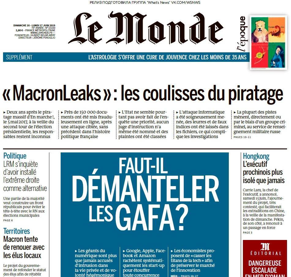 Le Monde – 16.06.2019 – 17.06.2019