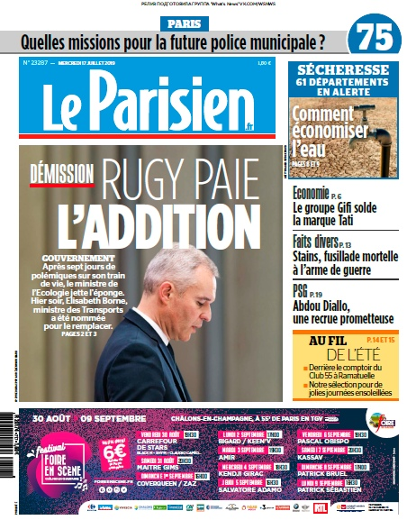 Le Parisien – 17.07.2019