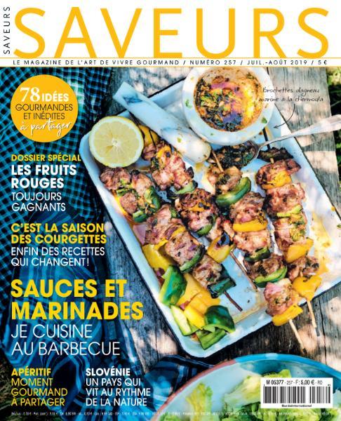 Saveurs France – Juillet-Août 2019