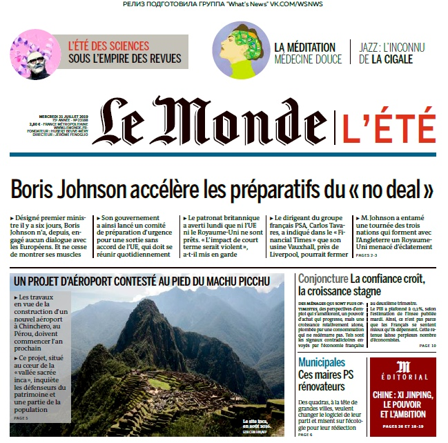 Le Monde – 31.07.2019