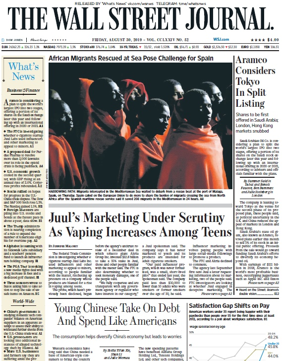 The Wall Street Journal – 30.08.2019