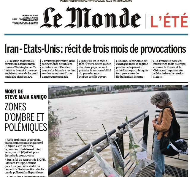 Le Monde – 01.08.2019