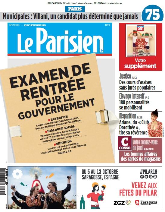 Le Parisien – 05.09.2019