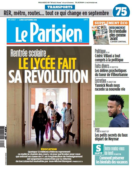 Le Parisien – 02.09.2019