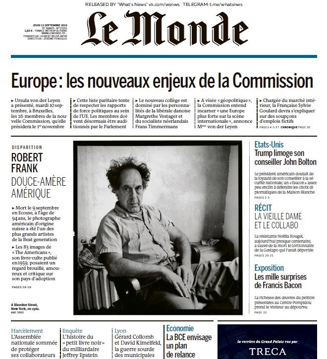 Le Monde – 12.009.2019