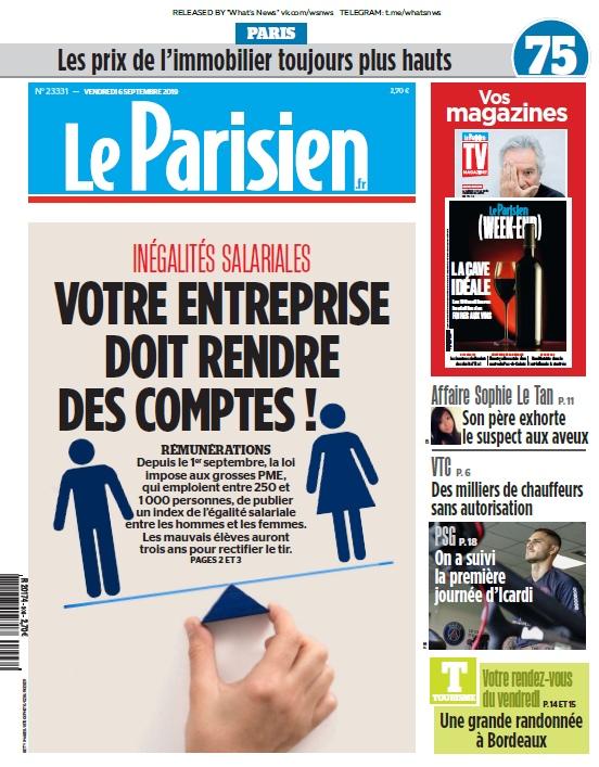 Le Parisien – 06.09.2019