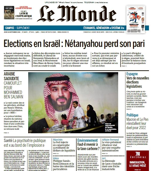 Le Monde – 19.09.2019