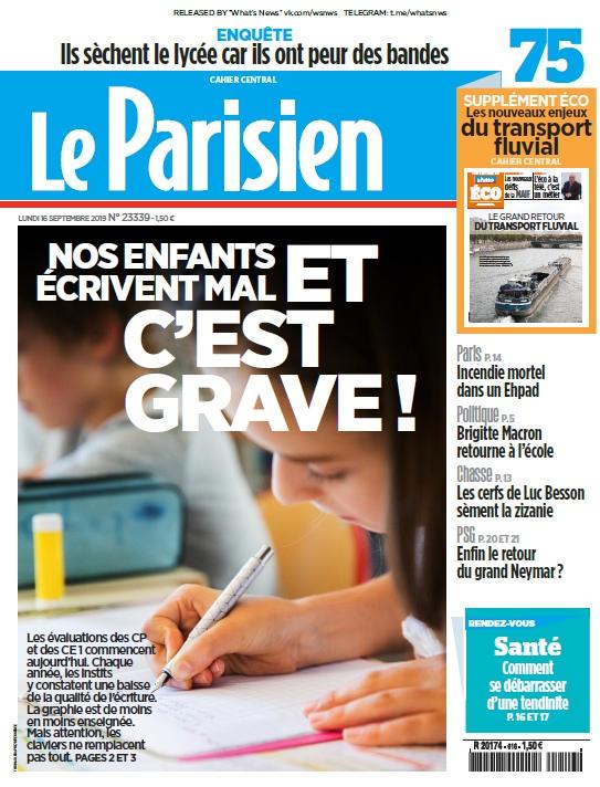 Le Parisien – 16.09.2019