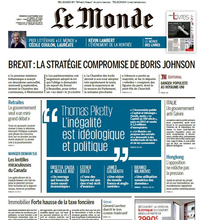 Le Monde – 06.09.2019
