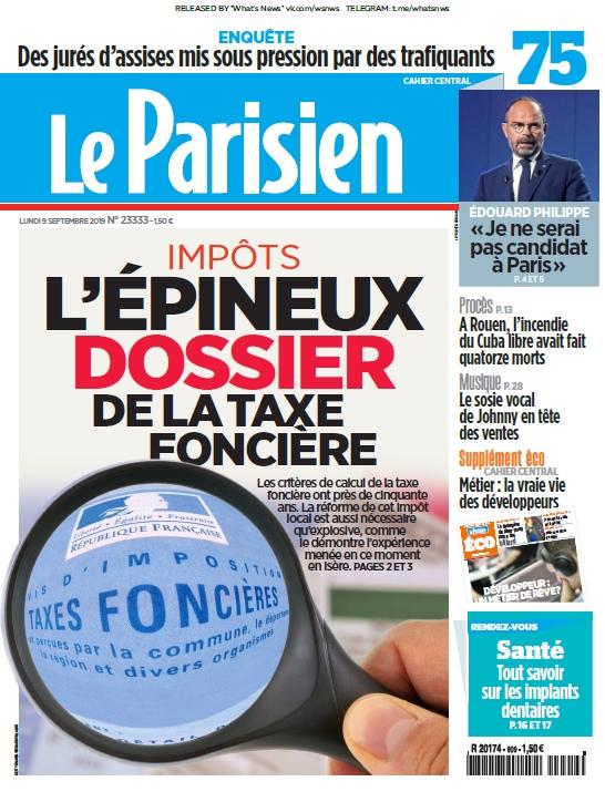 Le Parisien – 09.09.2019