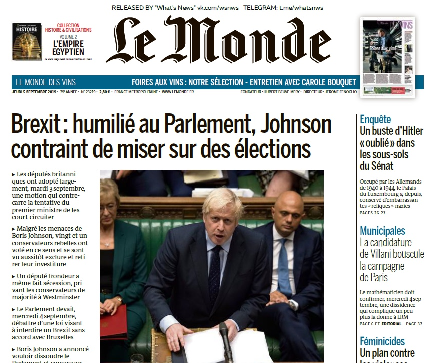 Le Monde – 05.09.2019