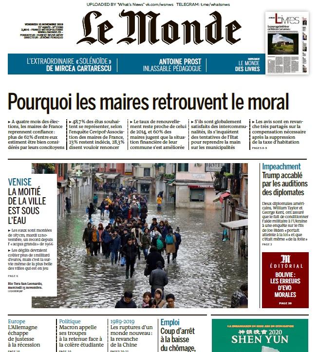 Le Monde – 15.11.2019