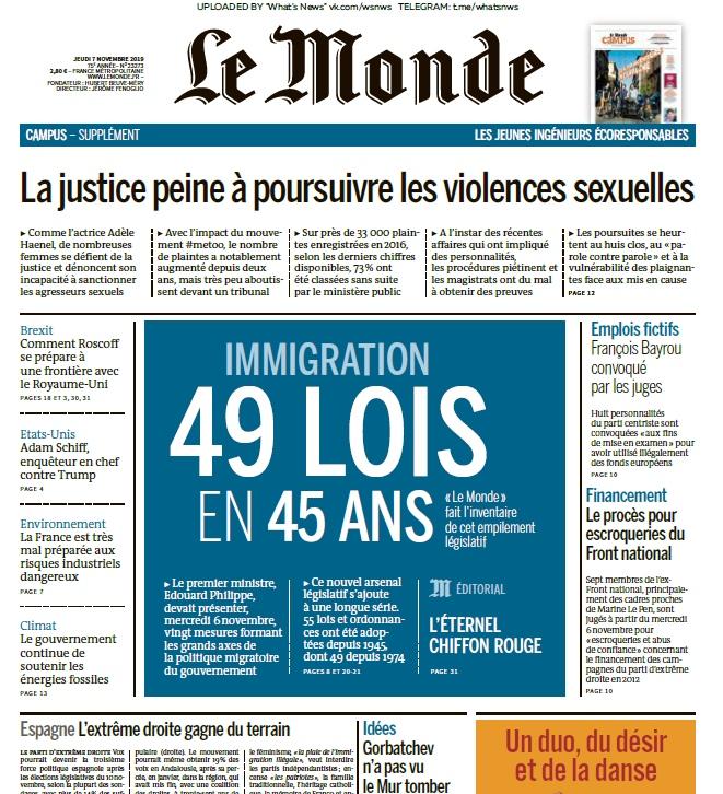 Le Monde – 07.11.2019