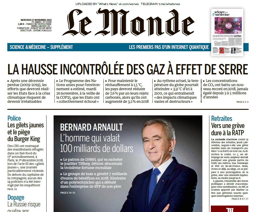 Le Monde – 27.11.2019