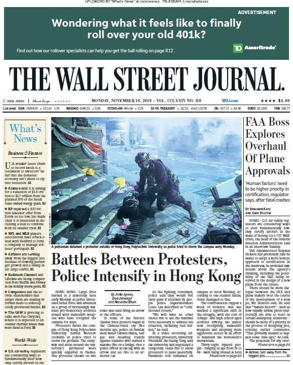 The Wall Street Journal – 18.11.2019