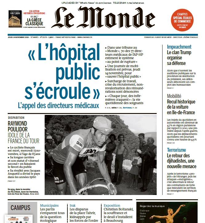 Le Monde – 14.11.2019