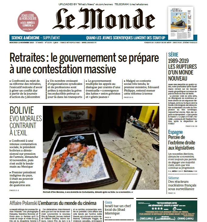 Le Monde – 13.11.2019