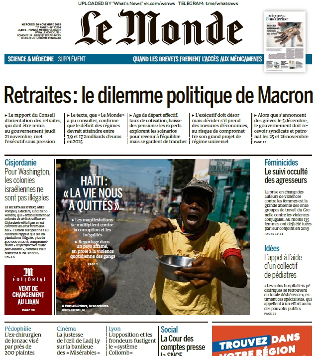 Le Monde – 20.11.2019