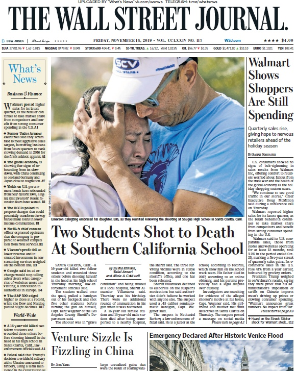 The Wall Street Journal – 15.11.2019