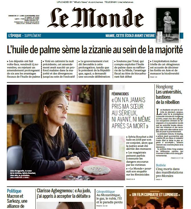 Le Monde – 17.11.2019 – 18.11.2019