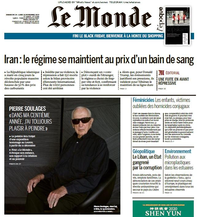 Le Monde – 24.11.2019 – 25.11.2019
