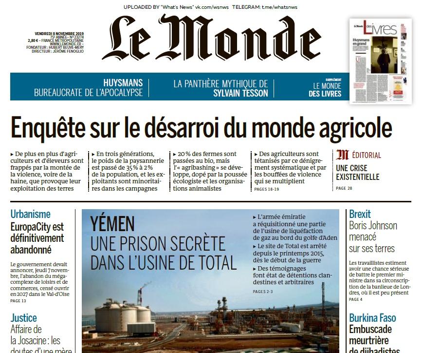 Le Monde – 08.11.2019