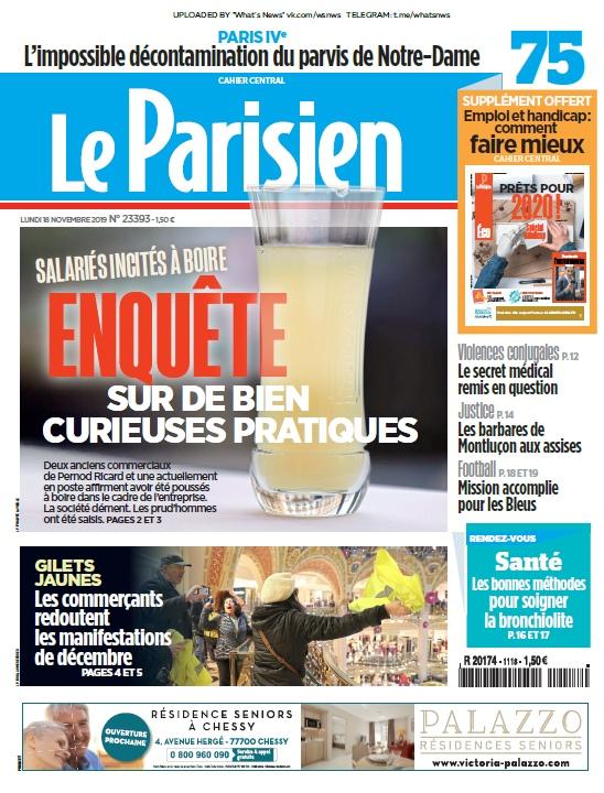 Le Parisien – 18.11.2019