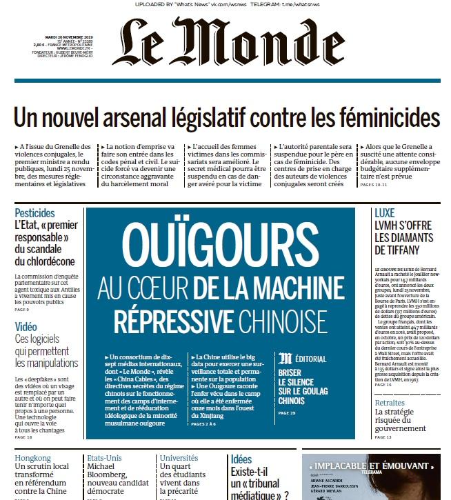 Le Monde – 26.11.2019