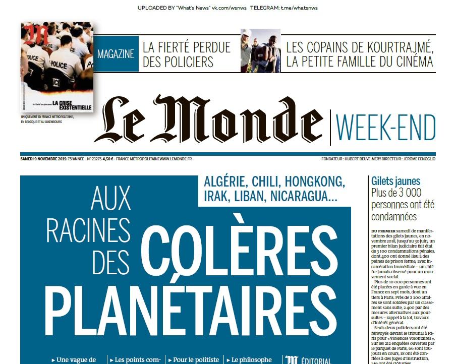 Le Monde – 09.11.2019