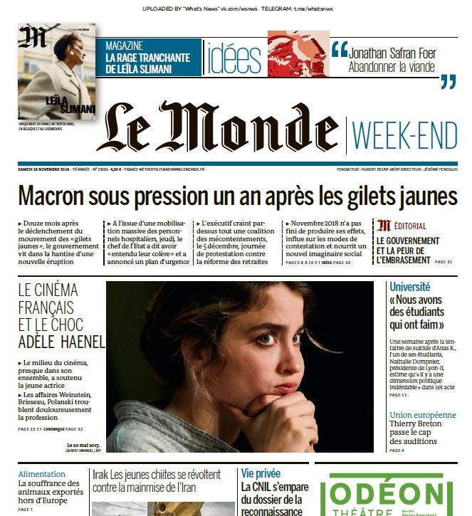 Le Monde – 16.11.2019