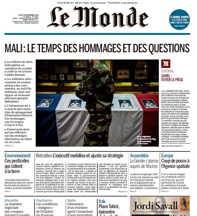 Le Monde – 28.11.2019