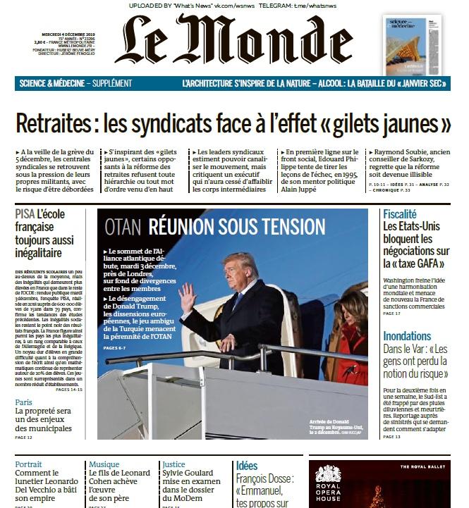 Le Monde – 04.12.2019