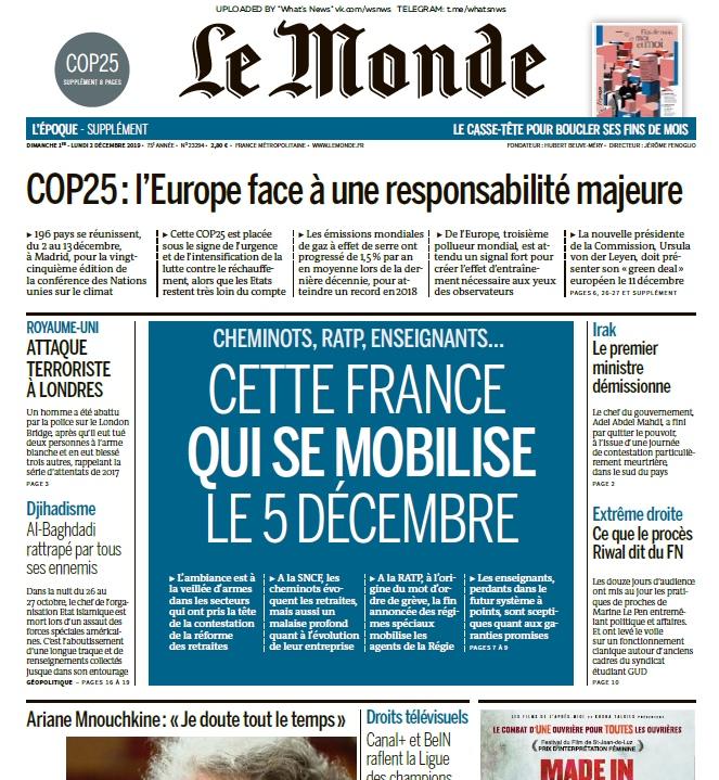 Le Monde – 02.12.2019