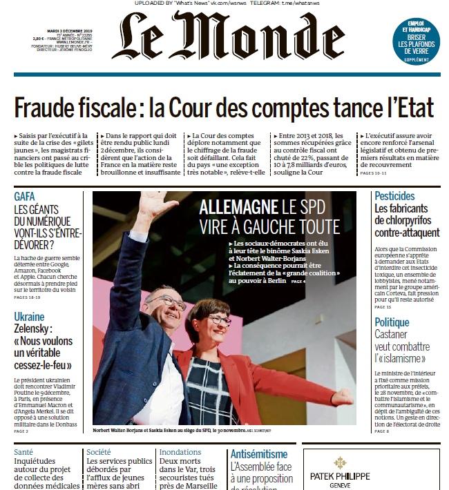 Le Monde – 03.12.2019