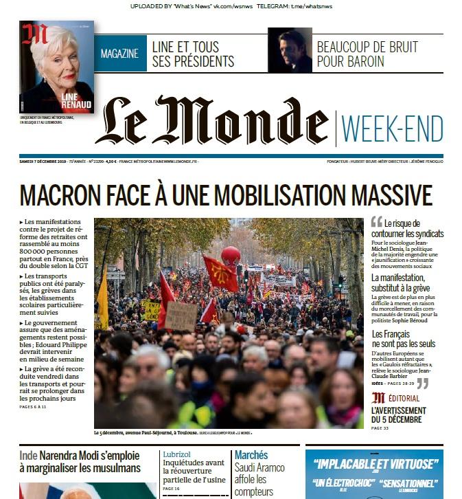 Le Monde – 07.12.2019