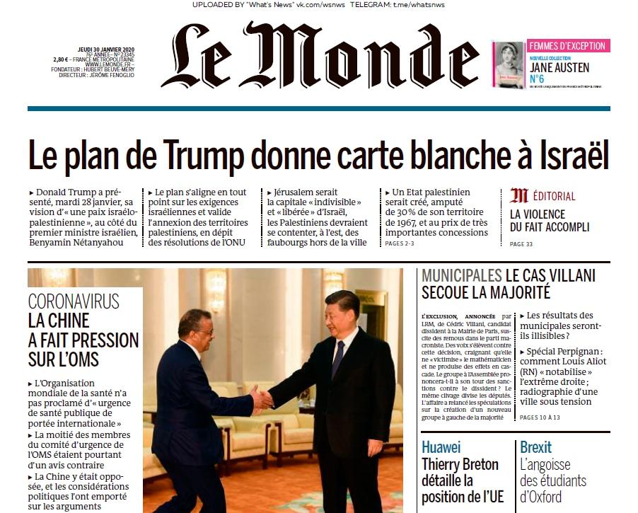 Le Monde – 30.01.2020