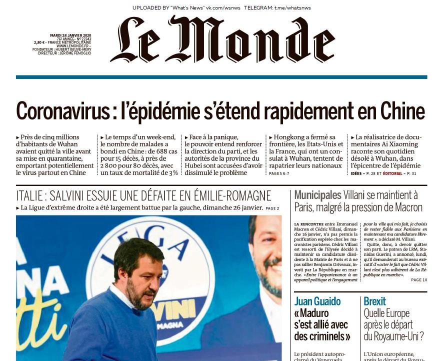 Le Monde – 28.01.2020