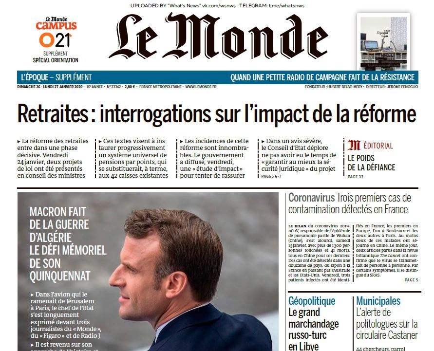 Le Monde – 26.01.2020 – 27.01.2020
