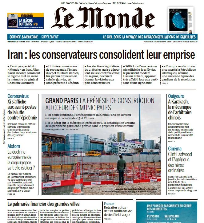Le Monde – 19.02.2020