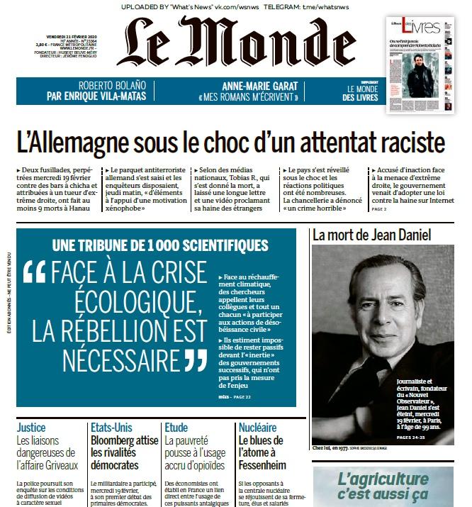 Le Monde – 21.02.2020