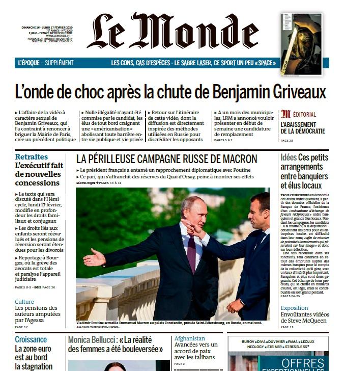 Le Monde – 16.02.2020 – 17.02.2020