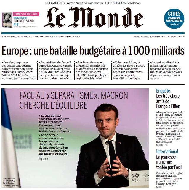 Le Monde – 20.02.2020