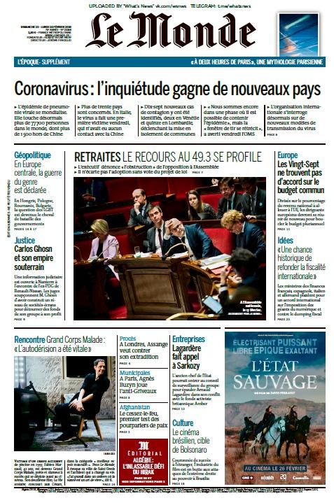Le Monde – 23.02.2020 – 24.02.2020