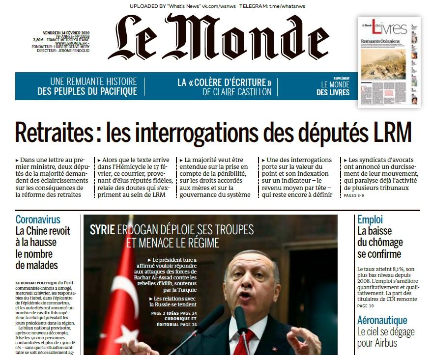 Le Monde – 14.02.2020