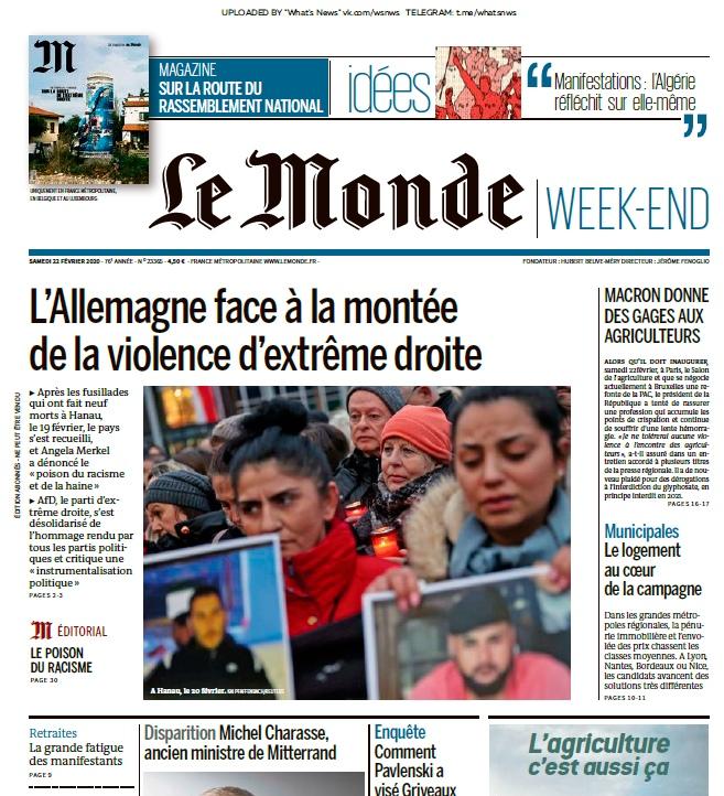 Le Monde – 22.02.2020