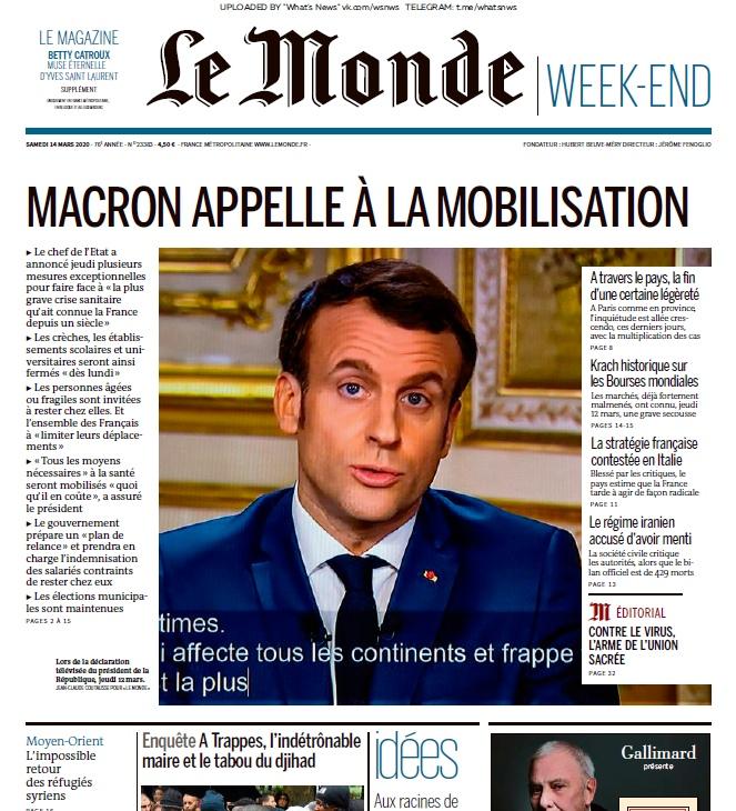 Le Monde – 14.03.2020
