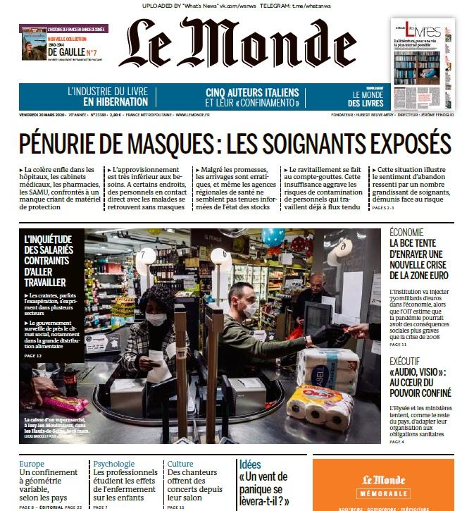 Le Monde – 20.03.2020