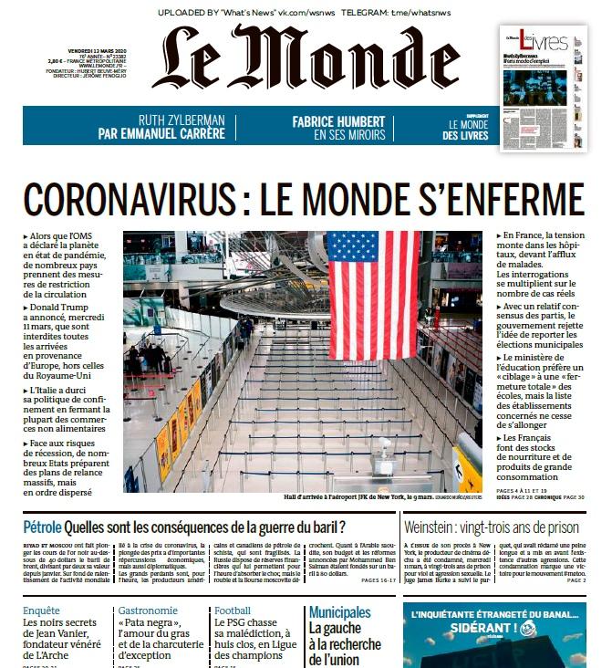 Le Monde – 13.03.2020