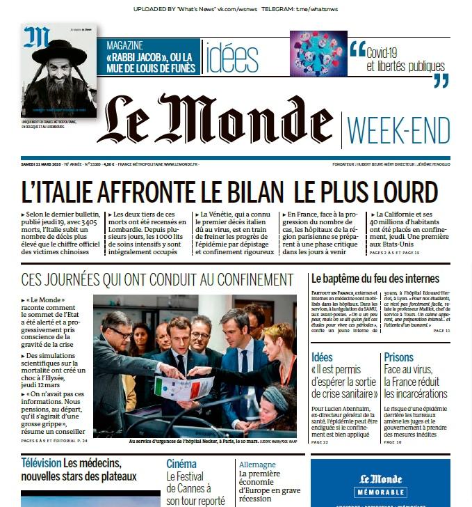 Le Monde – 21.03.2020