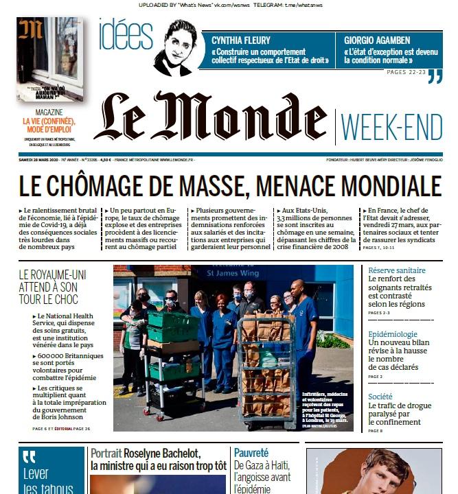 Le Monde – 28.03.2020